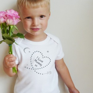 Written In The Stars 'I Love Mummy' Babygrow, T Shirt