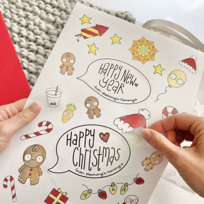 Bumps First Christmas Decoration Sticker Kit Mum To Be