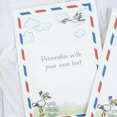 "Dad To Be "" THE ULTIMATE STORK MAIL  GIFT  SET"""