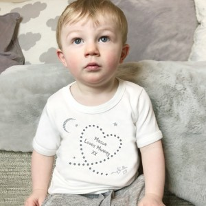 Written In The Stars Mummy personalised Babygrow, T Shirt