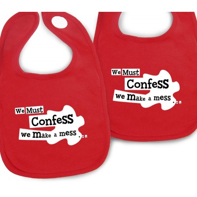 Confess bibs for TWINS